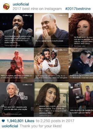 As imagens mais populares da conta oficial do UOL em 2017 - Reprodução