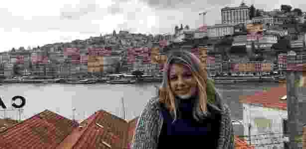 20.out.2018 - Julia Comarin, de 18 anos, conseguiu neste ano vaga no curso de Direito da Universidade Lusófona, em Portugal - Acervo Pessoal