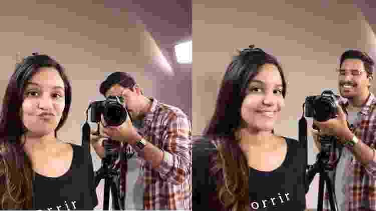 Selfie tirada com luz do estúdio - UOL