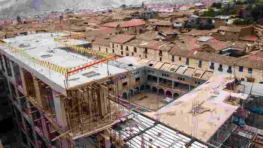 Hotel Sheraton em Cusco, no Peru, será destruído por destruir muros incas - HO / ANDINA / AFP
