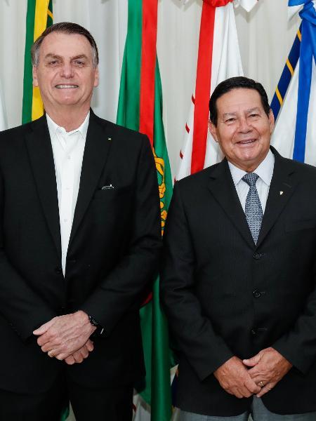 Bolsonaro transmite o cargo a Mourão - Alan Santos/PR/Divulgação