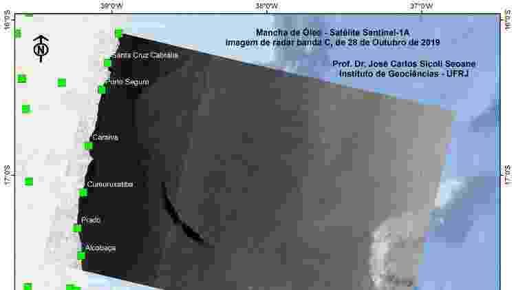 Imagens de satélite captadas pelo Instituto de Geociências da UFRJ - Divulgação/UFRJ