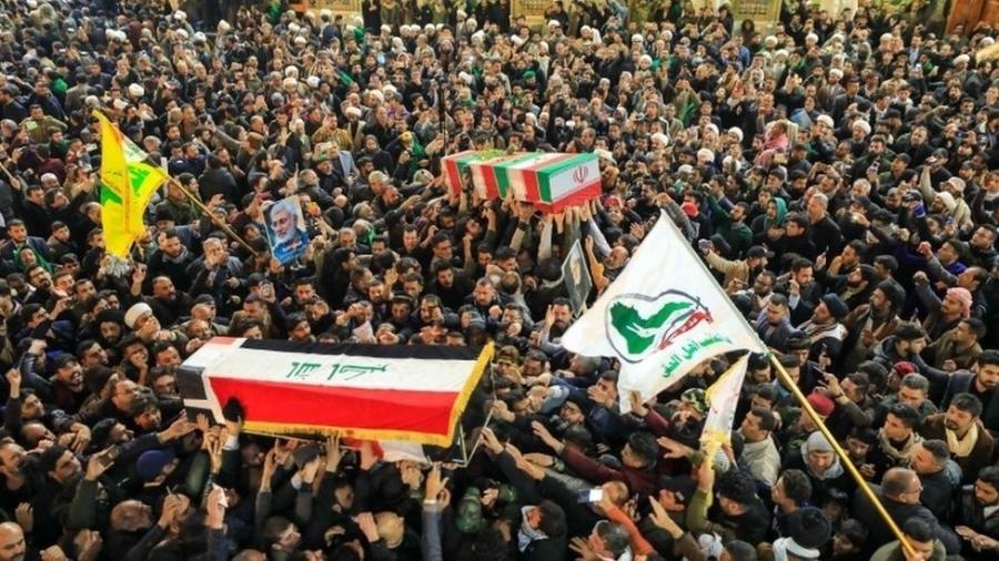 Ataque a bases americanas no Iraque acontece horas depois do funeral de Qassim Suleimani - EPA