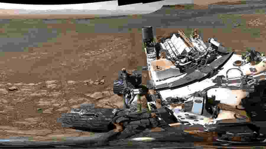Foto panorâmica de Marte - NASA/JPL-Caltech/MSSS