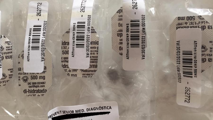 """Em julho do ano passado, Prevent Senior já enviava """"kit covid"""" para pacientes com suspeita de terem contraído o novo coronavírus - Arquivo pessoal"""