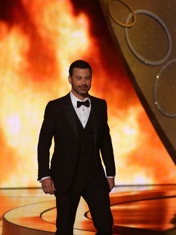 Apresentador Jimmy Kimmel durante abertura da 68ª edição do Emmy em Los Angeles