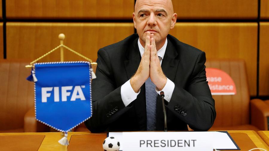 Presidente da Fifa, Gianni Infantino confirmou que o Mundial de Clubes de 2020 não será realizado neste ano - LEONHARD FOEGER