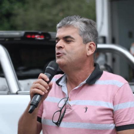Washington Reis (MDB), durante campanha a prefeito de Duque de Caxias  - Divulgação