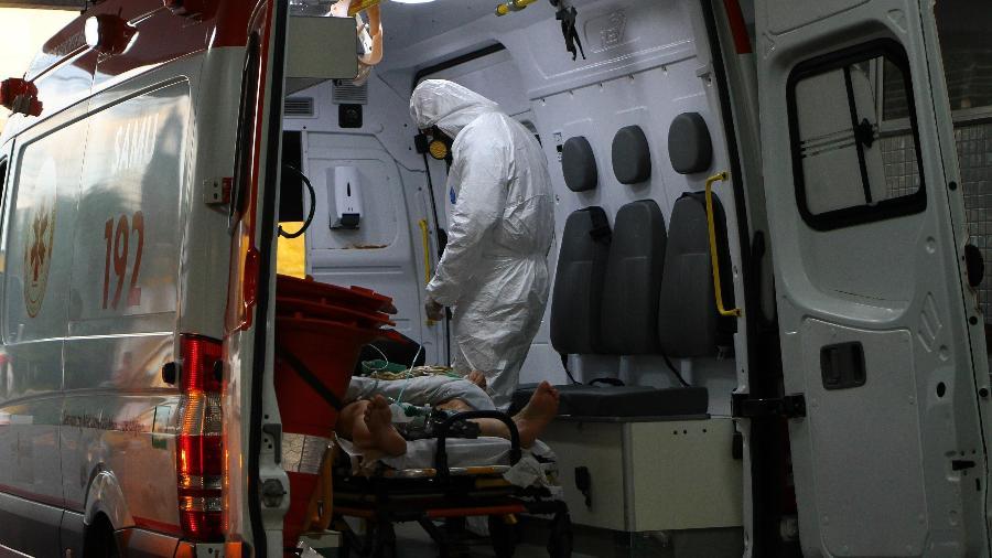 Pernambuco atingiu 95% de ocupação dos leitos de UTI para pacientes da covid-19, de acordo com a Secretaria de Saúde - EDMAR BARROS/ESTADÃO CONTEÚDO