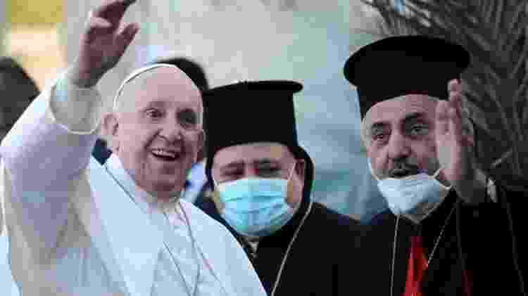 Francisco visitou uma igreja cristã na anteontem no Iraque - EPA - EPA