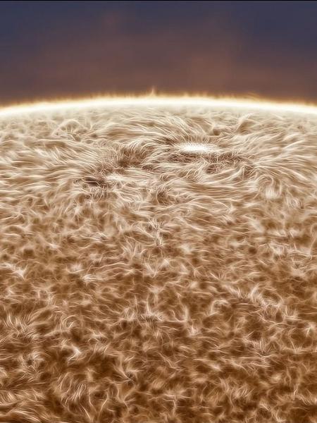 Imagem do Sol feita pelo fotógrafo amador Jason Guenzel - Reprodução/Jason Guenzel