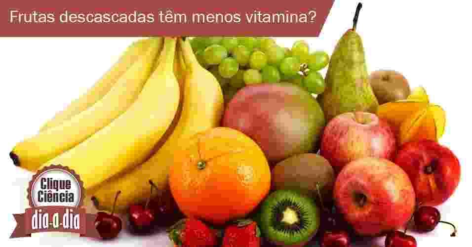 Clique Ciência: frutas descascadas - Arte UOL