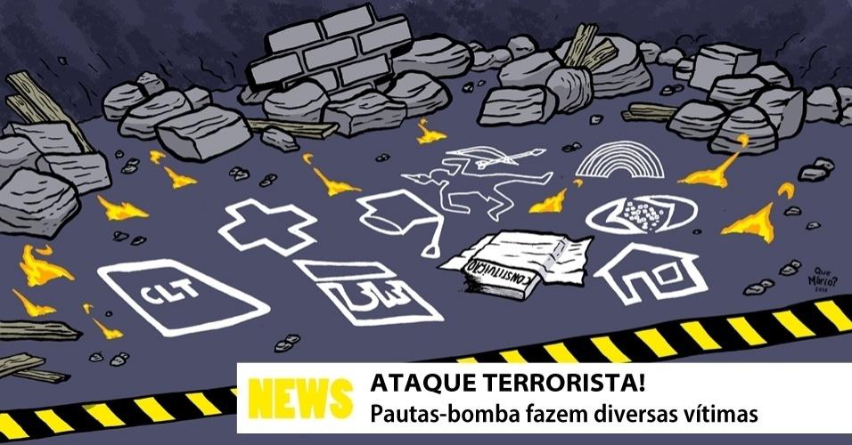 27.jul.2016 - No Congresso, quem espalha o terror são as pautas-bomba