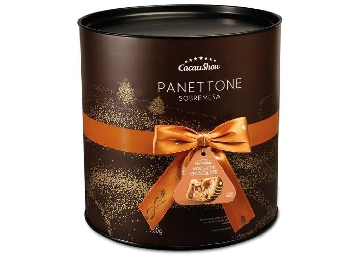 Panetone Cacau Show mousse de chocolate 700g R$ 54,90
