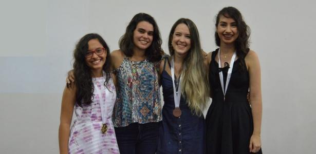 Jamile, Júlia, Juliana e Mariana representarão o Brasil (da esq. para dir.)