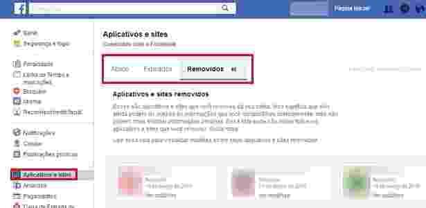Controle de permissões do Facebook - Reprodução - Reprodução