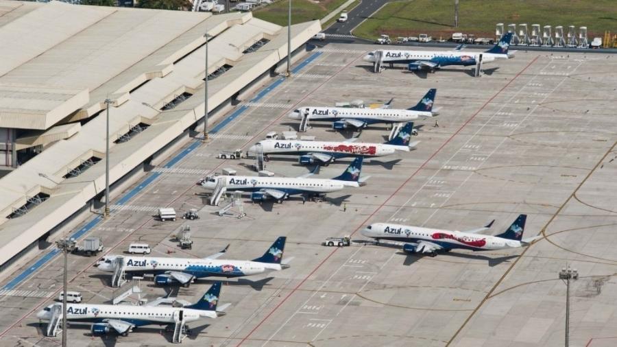 Pátio do aeroporto de Viracopos, em Campinas - Divulgação