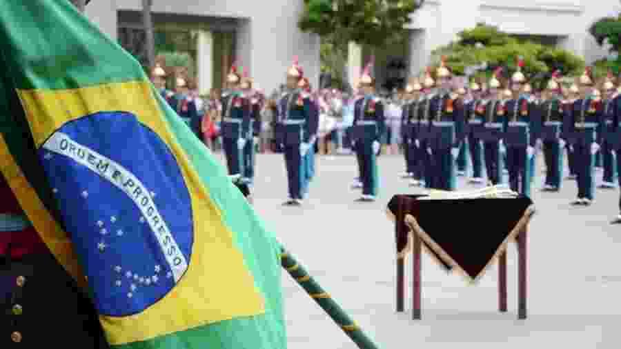 Formatura da turma de cadetes de 2018, em 1º de dezembro, na qual Bolsonaro compareceu - Soldado Elizeu Gomes