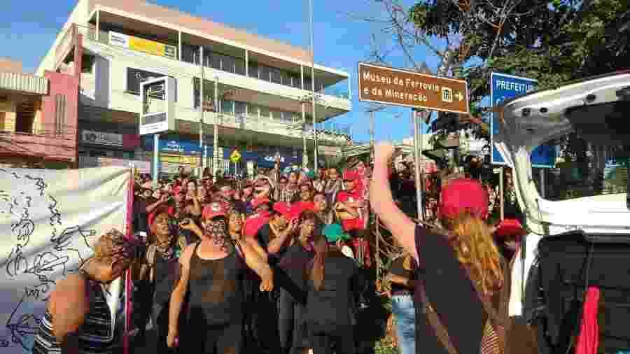 14.mar.2019 - Mulheres do MST protestam contra Vale em Minas Gerais - Reprodução/Facebook/MST
