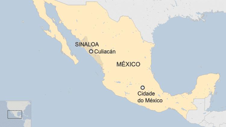 Mapa de Culiacán - BBC
