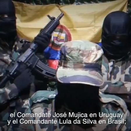 Bolsonaro compartilha vídeo em que homem relaciona Lula às Farc - Reprodução