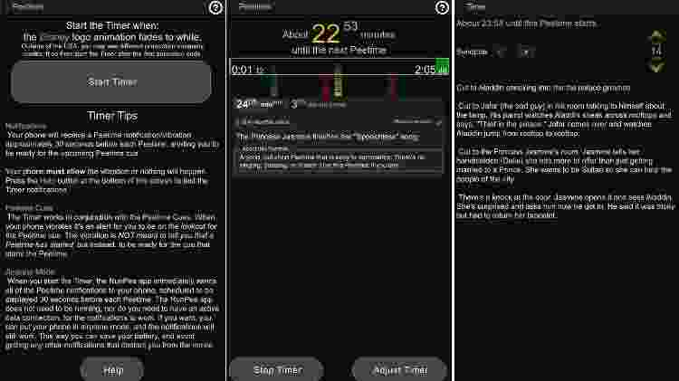 O timer do RunPee em ação - Reprodução