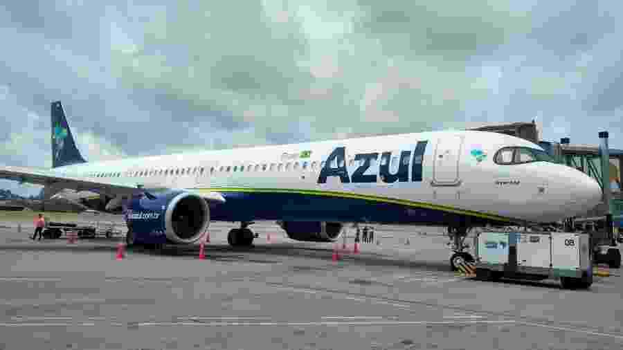 Azul anunciou que retomará voos domésticos do aeroporto Internacional de São Paulo/Guarulhos a partir de 6 de julho - Vinícius Casagrande/UOL
