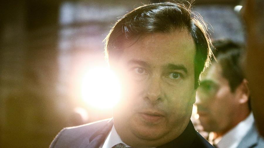 19.fev.2020 - O presidente da Câmara dos Deputados, Rodrigo Maia (DEM-RJ), no Congresso Nacional - Marcelo Camargo/Agência Brasil