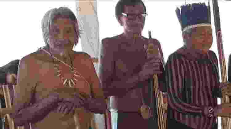 Da esquerda para a direita, Warini, Api e Arikassu - Rede de Apoio Mútuo Indígena do Sudeste do Pará - Rede de Apoio Mútuo Indígena do Sudeste do Pará