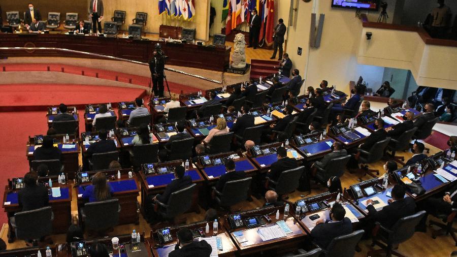 Imagens da nova Assembleia Legislativa em El Salvador - Stanley ESTRADA / AFP