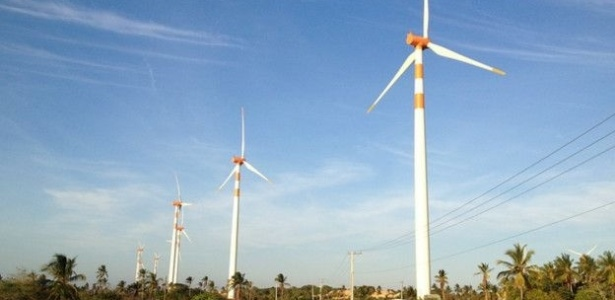 Turbinas de energia eólica (força dos ventos)