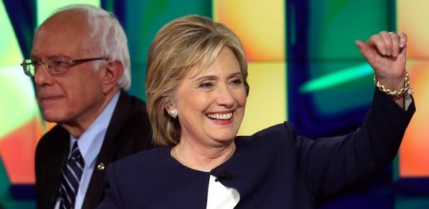 Bernie Sanders e Hillary Clinton, principais pré-candidatos democratas