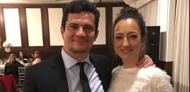 O juiz Sergio Moro e a advogada Rosângela Wolff Moro, com quem é casado