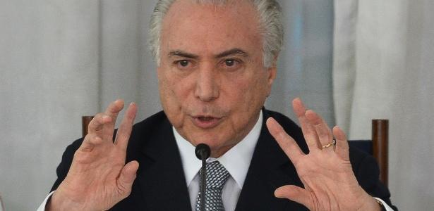 O presidente Michel Temer em evento no Palácio da Alvorada, em Brasília