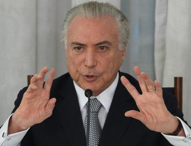 O presidente brasileiro, Michel Temer