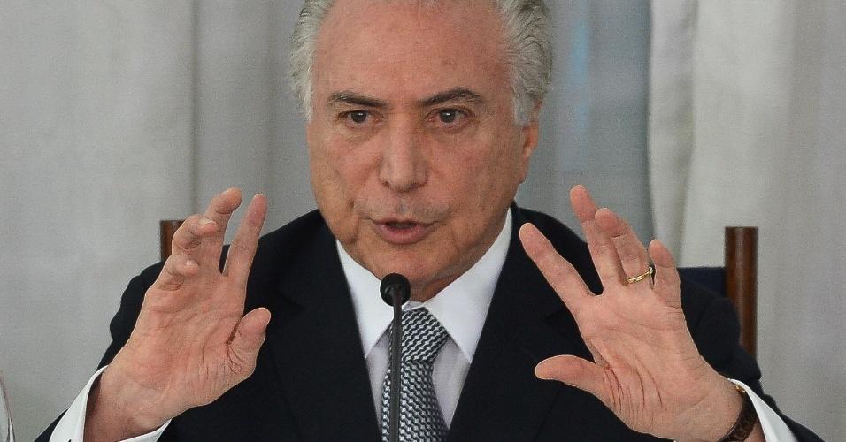 22.dez.2016 - O presidente Michel Temer no Palácio da Alvorada, em Brasília