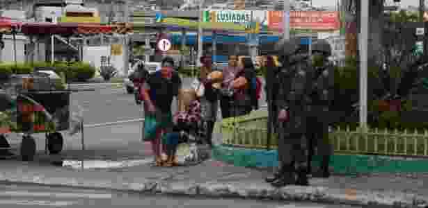 Militares patrulharam as ruas do ES durante paralisação da Polícia Militar do Estado - Gilson Borba/Colaboração para o UOL
