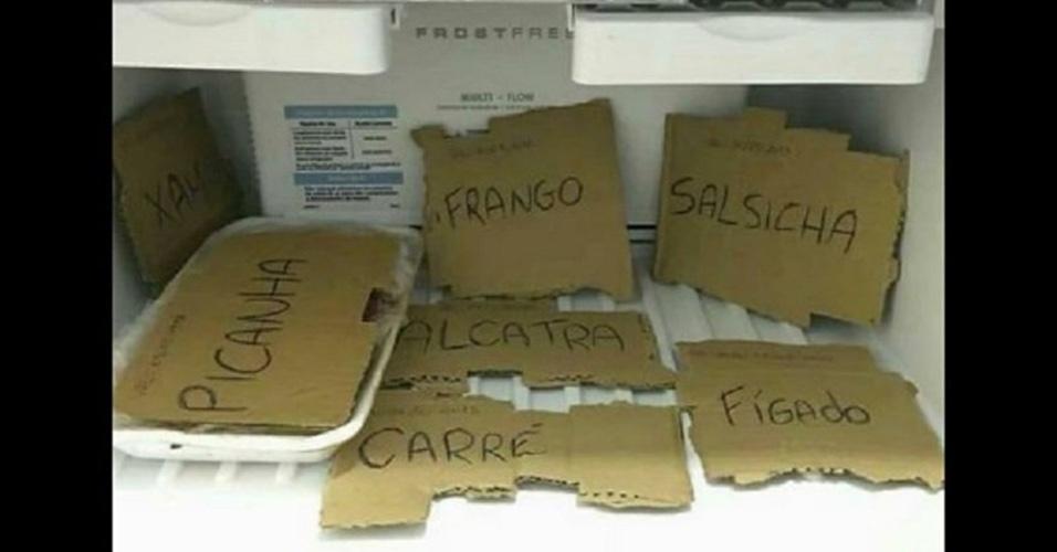Memes da Operação Carne Fraca: freezer com papelão