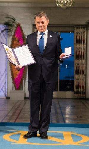 2016 - Juan Manuel Santos (Colômbia) - O presidente da Colômbia foi laureado com o prêmio por ter proposto um cessar-fogo e um acordo de paz com o grupo guerrilheiro Farc (Forças Armadas Revolucionárias da Colômbia)