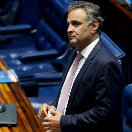 20.fev.2018 - O senador Aécio Neves (PSDB-MG) - Walterson Rosa/Estadão Conteúdo