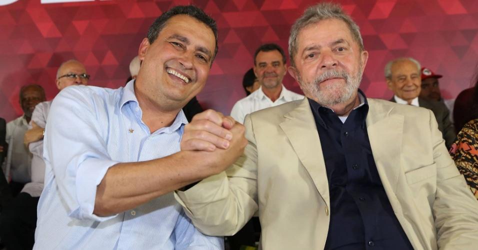 O governador da Bahia, Rui Costa (PT-BA), e o ex-presidente Luiz Inácio Lula da Silva