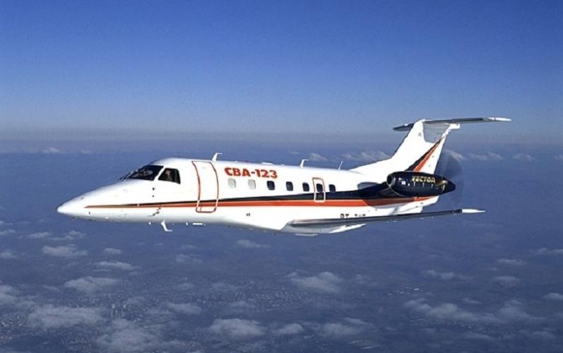 Avião modelo CBA-123 Vector, da Embraer