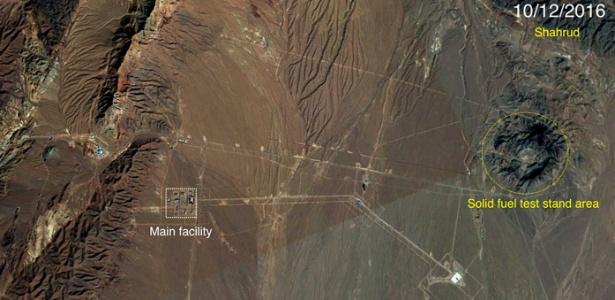 Imagem mostra local onde Irã pode estar desenvolvendo mísseis de longo alcance, perto de Shahrud