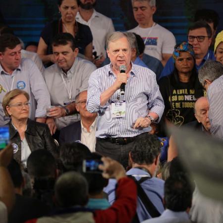 Tasso Jereissati durante Convenção Nacional do PSDB em Brasília (DF) - Fátima Meira/Futurapress/Estadão Conteúdo