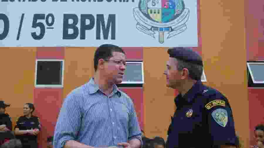 O governador de Rondônia, Coronel Marcos Rocha (à esq.) durante a campanha eleitoral - Reprodução/Facebook
