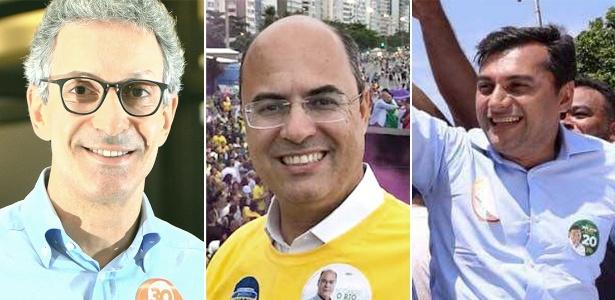 Romeu Zema (Novo), Wilson Witzel (PSC) e Wilson Lima (PSC), eleitos para os governos de MG, Rio e Amazonas