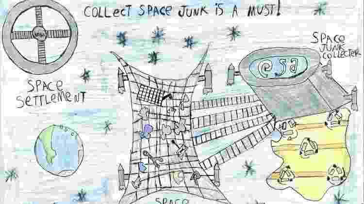 Desenho vencedor do prêmio da Agência Espacial Europeia - Arquivo pessoal