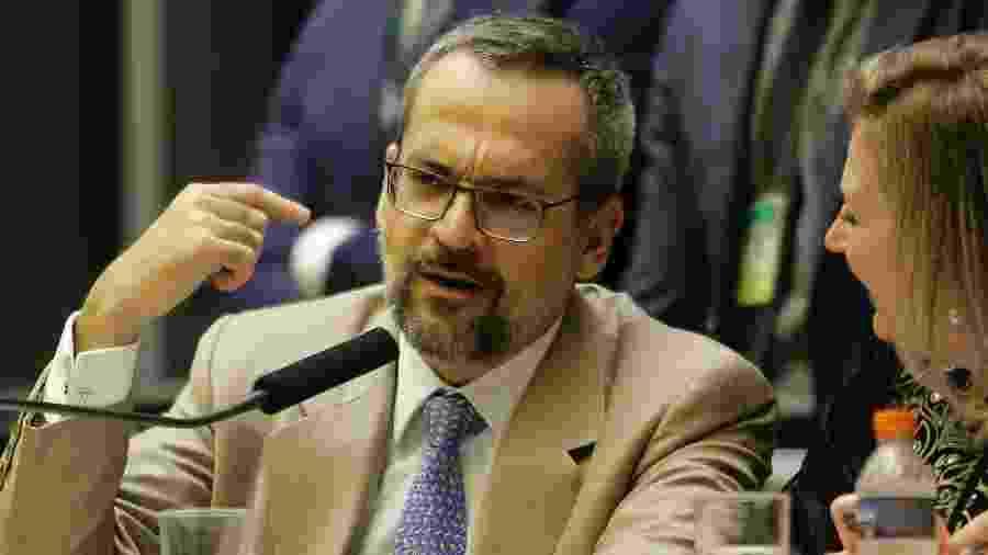 O ministro da Educação Abraham Weintraub fala na Câmara dos Deputados - Dida Sampaio/Estadão Conteúdo