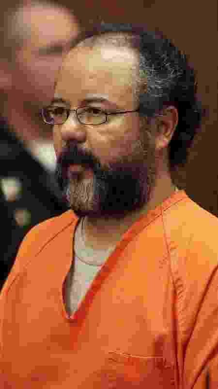 3.dez.2013- Ariel Castro durante seu julgamento por sequestro, estupro e assassinato em Cleveland, Ohio - Aaron Josefczyk/Reuters