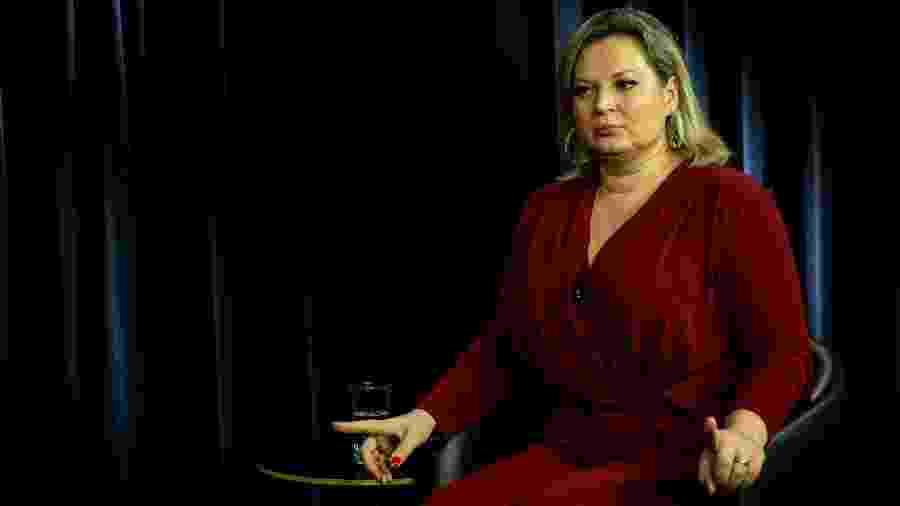 A deputada federal Joice Hasselmann (PSL-SP), em entrevista no estúdio do UOL/Folha, em Brasília, em dezembro - Kleyton Amorim/UOL